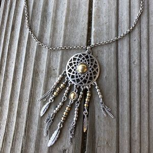 Great Lucky Brand Dreamcatcher Necklace!